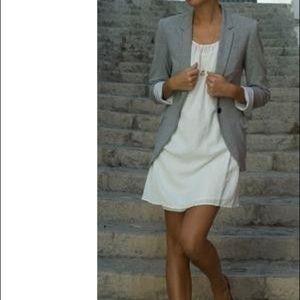 NWT Vintage CK Gray Mid Length Blazer Size 6
